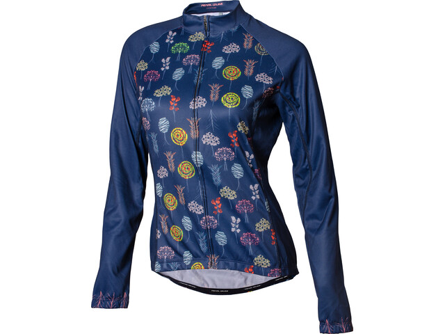 PEARL iZUMi Elite LTD Thermal LS Jersey Women winter trees navy matches all